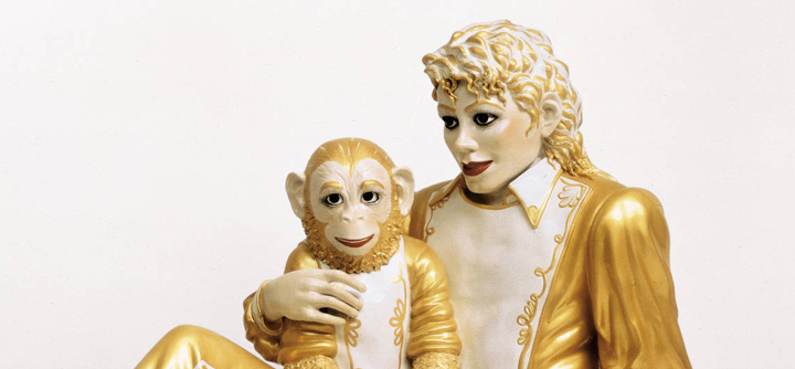 Jeff Koons ~ Michael Jackson + Bubbles, Detail 1988